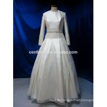 Reale Abbildung lange Hülse moslemisches Brauthochzeitskleid
