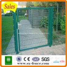 Porte de clôture soudée enduite de PVC