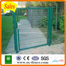PVC coated welded wire mesh fence gate