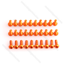 M3x6mm colored button aluminum screws