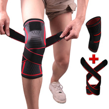 High Quality Knitted Sports Knee Pads Badminton Running Fitness Knee Pads Outdoor Climbing Knee Pads with Compression Belt