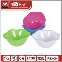 Flower plastic salad bowl