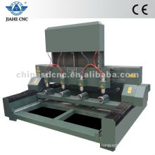 Multi-head CNC Router with 4 rotary attachment/multi-head 4 axis CNC Router