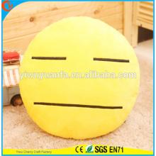 Hot Selling novedad diseño amarillo lindo Emoticon Emoji expresión facial almohada de peluche