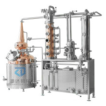 Red copper distiller spirit distilling machine 200L 300L gin distillery equipment Whisky distiller