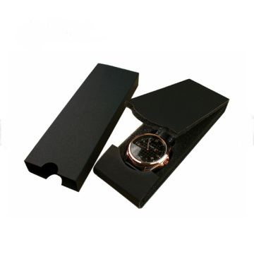 Partihandel Foldbar Black Paper Watch Packaging Box