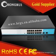 Профессиональный уровень 2 16 портовый гигабитный Ethernet коммутатор с 2 SFP слот