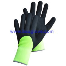 7 Gauge Acrylic Thermal Liner Plus, 13G Nylon Outer Liner, Nitrile Coating, 3/4sandy Finish Work Glove