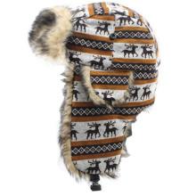 2014 New Design Printing Fur Winter Cap