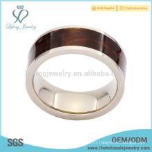 8mm titanium wedding bands with wood grain inlay