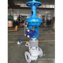 Válvula de controle de fluxo pneumático de alta temperatura ((ZJHM)