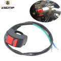 12V ON OFF Motorbike Motorcycle Connector Push Button Switch Handlebar Switches Bullet for LED Headlight Fog Light