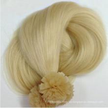 Prebonded Hair Double Drawn Italien Keratin Flache Spitze Haarverlängerung für Wiederverkäufer