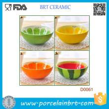 Hand Painted Ceramic Bowl Rice & Fruit Cute Bowl