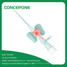 Cánula intravenosa (tipo ala) con catéter intravenoso de inyección IV