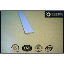 Aluminium Roman Blind Bottom Rail Profile White Color Flat Bar 20X3mm