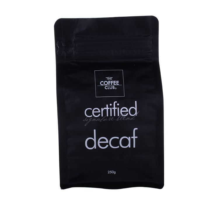 Biodegradable Coffee Flat Bottom Bag