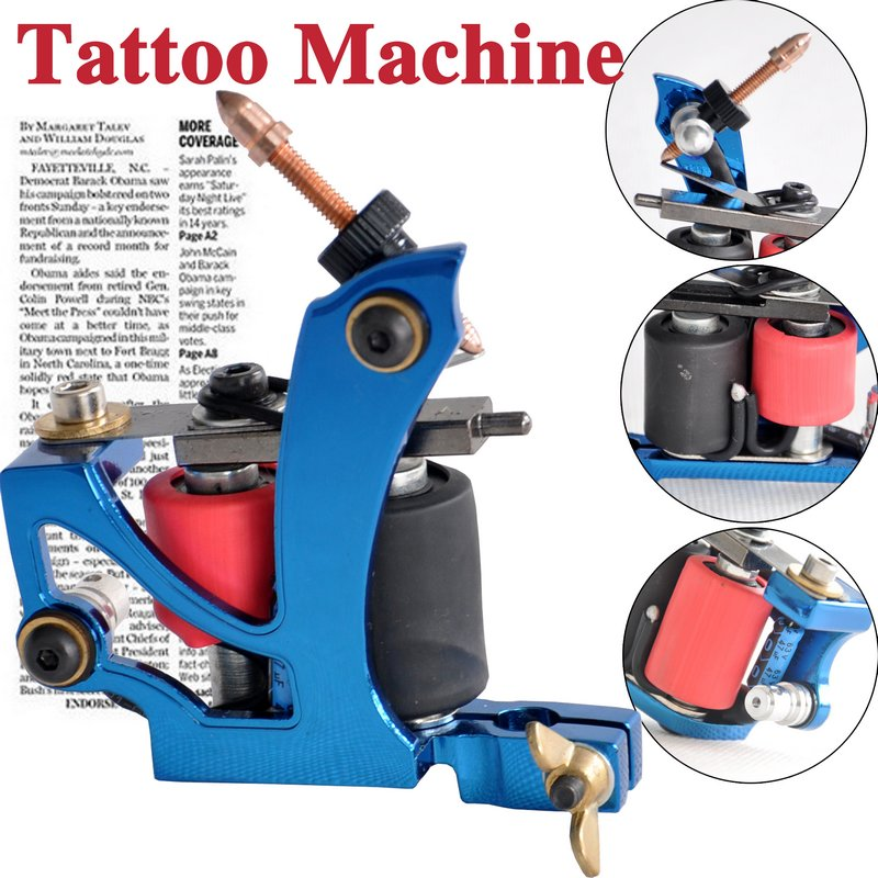 blue tattoo machines
