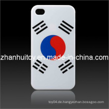 Koreanische Flaggen-glatte Plastikharte Haut-Kasten-Abdeckung für iPhone