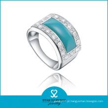 Qualidade natural turquesa dedo anelar