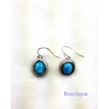 Fashion Larimar Jewelry Earrings (E1303)