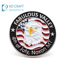 Best selling products in usa custom metal zinc alloy soft enamel silver plating military anniversary lapel pin