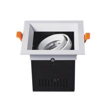 Montaje empotrado de luz empotrada con rejilla LED
