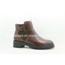 Qualitied New Fashion Flat Leather Ladies Boots
