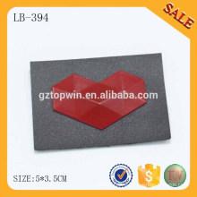 LB394 Изготовленный на заказ выбитый сердце Металл логоса кожаный металлический заплата