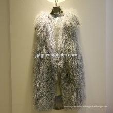 Chaleco al por mayor de la piel del pelo suave de la piel de oveja del cordero de Tíbet