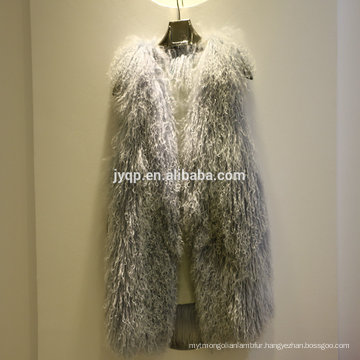 Wholesale Tibet Lamb Sheepskin Fur Soft Hair Fur Vest