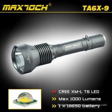 Maxtoch TA6X-9 Cree 18650 5 режимов питания клеток батареи привело факел