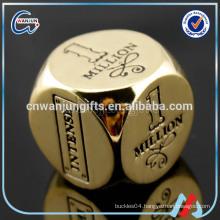 6 sided metal dice, custom metal dice, 16mm metal dice