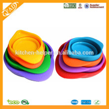 Custom Guangdong Multi-function food Grade Heat Resistant Collapsible Foldable Silicone Measuring Cup,Silicone Measuring Jug
