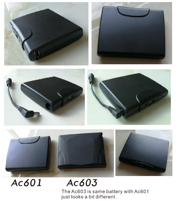 ac601 heated jacket battery