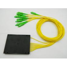 1x8 SC/APC box plc fiber optical splitter / coupler with 2.0mm fiber cable
