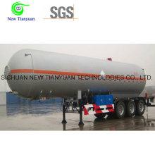 Liquid Ammonia 47.5m3 Volume Tank Container Semi Trailer