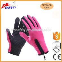 Unisex Winter Fleece gefüttert Vollfinger Anti-Rutsch-Touchscreen Ski Handschuhe