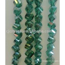 Perles de cristal de différentes formes