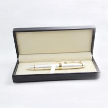 Caneta de rolo de metal high-end, caneta de publicidade com caixa de presente