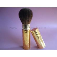 Poignée d'or poils doux soin de la peau brosse de fondation brosse rétractable