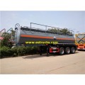19000 Liters 3 Axles H2SO4 Transport نصف مقطورة