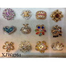 Fashion Finger Ring/Jewelry Ring/Multi Colorful Crystal Extended Ring (XJW1761)
