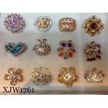 Anel de dedo da forma / anel da jóia / multi anel colorido do cristal colorido (XJW1761)