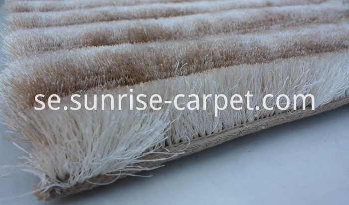 Thin Polyester Shaggy 3D Rug Beige Color