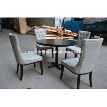 White color Modern restaurant chair and table set XYN502