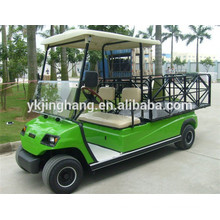 CE approved 2 seater farm utility electric vehicle, steel cargo box golf cart