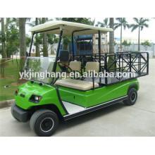 O CE aprovou o veículo elétrico de serviço público da exploração agrícola de 2 seater, carro de golfe de aço da caixa da carga
