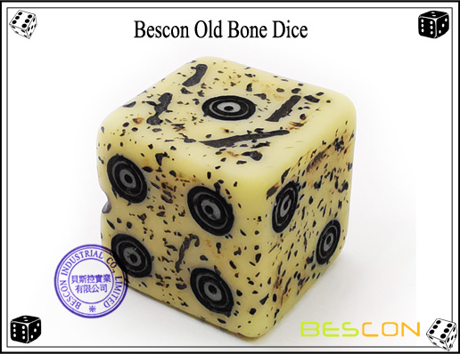 Bescon Old Bone Dice-6