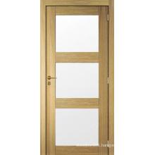New Design Shaker Panel Pre-Hung Wood Door Glass Door